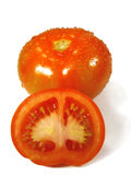 Tomatoe on white Stock Images