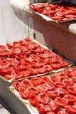 Tomatoees de séchage Images libres de droits