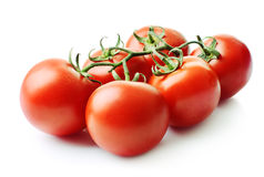 Tomatoes. Fresh tomatoes. Isolated on white background Royalty Free Stock Images