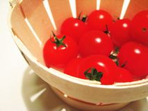 Tomatoes. A still-life of a basket of fresh tomatoes Royalty Free Stock Photos