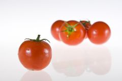 Tomatoes. Red tomatoes on white background Royalty Free Stock Photo