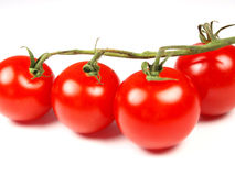 Tomatoes. Ripe cherry tomatoes isolated on white Royalty Free Stock Photos
