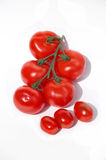 Tomatoes. Garden and cherry tomatoes Stock Photo