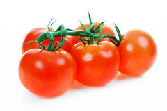 Tomatoes. Red, ripe with a white background in studio Stock Photo