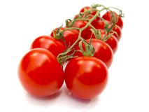 Tomatoes. Fresh red tomatoes isolated on white background royalty free stock photography