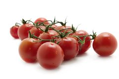 Tomatoes. Red tomatoes over white background Royalty Free Stock Photo