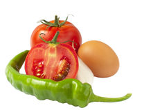 Tomatoes. Fresh vegetables, tomatoes, chili peppers Royalty Free Stock Photo