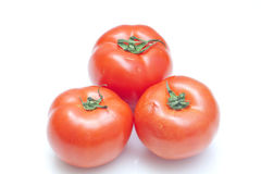 Tomatoes. There are some tomatoes on the white background Stock Photography