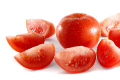 Tomatoes. Photo of isolated fresh red tomatoes Royalty Free Stock Photos
