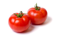 Tomatoes. Red tomatoes  on white background Royalty Free Stock Photography