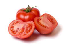 Tomatoes. Red tomatoes  on white background Royalty Free Stock Images