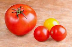 Tomatoes. Fresh ripe tomato cherry close up Stock Photography