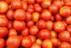 Tomatoes. A pile of fresh tomatoes at the market Stock Photos