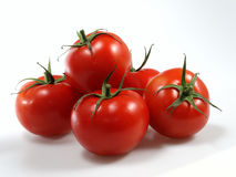 Tomatoes. Several tomatoes arranged in studio Stock Image