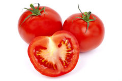 Tomatoes. On a white background Royalty Free Stock Image