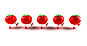 Tomatoes. All the same, all taste the same Royalty Free Stock Photos