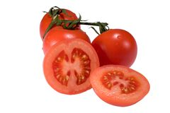 Tomatoes. Isolated tomatoes Royalty Free Stock Photo