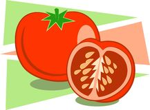 Tomatoes. A stylised drawing of juicy red tomatoes Royalty Free Stock Images