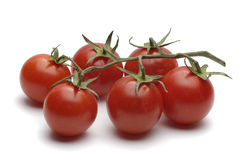 Tomatoes. Isolated on white Royalty Free Stock Photography