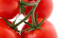 Tomatoes. Red tomatoes isolated on a white background Stock Photo