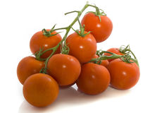 Tomatoes. Several tomatoes isolated on a white background Royalty Free Stock Images
