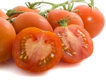 Tomatoes. Close up tomatoes isolated on a white background Royalty Free Stock Photo