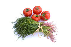 Tomatoes with Agretti Royalty Free Stock Photo