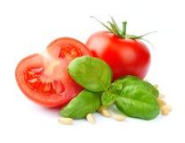 Free Tomatoes And Basil Royalty Free Stock Photos - 30700338