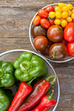 Tomatoes andpepper Stock Image