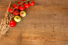 Tomatoes and apples Royalty Free Stock Photography