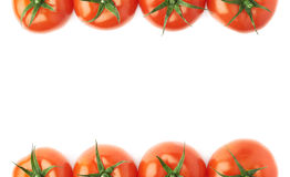Tomatoes as borders of composition Royalty Free Stock Photo