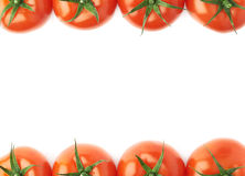 Tomatoes as borders of composition Stock Image