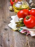 Tomatoes, asparagus Royalty Free Stock Photography