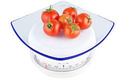 Tomatoes on the balance Stock Photography
