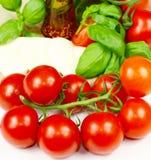 Tomatoes, basil and mozzarella. Fresh Tomatoes, basil and mozzarella Stock Images