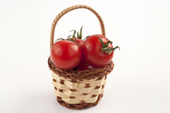Tomatoes basket Royalty Free Stock Photo