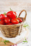 Tomatoes in a basket Royalty Free Stock Images
