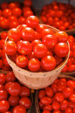Tomatoes in baskets Royalty Free Stock Photos