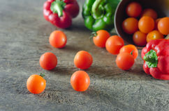 Tomatoes  and bell pepper Stock Image
