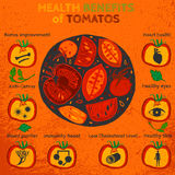 Tomatoes Benefits Image Stock Images