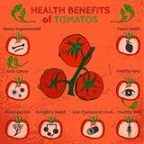Tomatoes Benefits Image Stock Photography