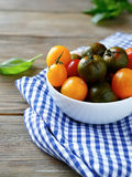 Tomatoes in a bowl Stock Photography
