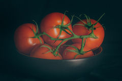 Tomatoes in a bowl Stock Photo