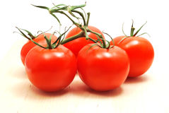 Tomatoes on branch Stock Photo