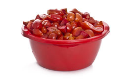 Tomatoes in  bucket Stock Photo