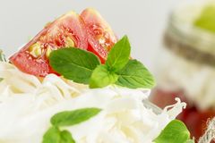 Tomatoes and cabbage with mint Stock Image