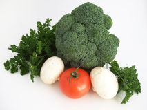 The tomatoes, cabbage , mushrums and  the parsley Royalty Free Stock Photos