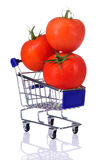 Tomatoes in the cart Royalty Free Stock Photo