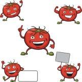 Tomatoes cartoon figures Stock Photos