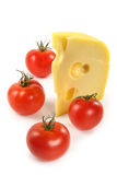 Tomatoes and  cheese Stock Photo
